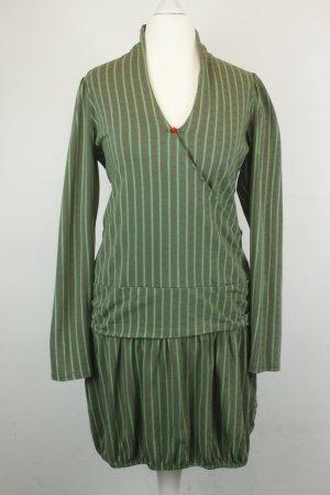 Blutsschwester Kleid Ballonkleid Gr. S grün pink Schleifen-Print