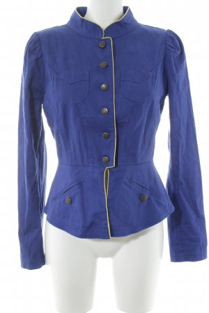 Blutsschwester Kurz-Blazer blau-gelb Casual-Look