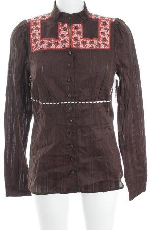 Blutsschwester Langarm-Bluse mehrfarbig schlichter Stil