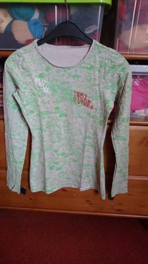 Blutsschwester Longsleeve Shirt Gr. XS grün grau Blutsgeschwister
