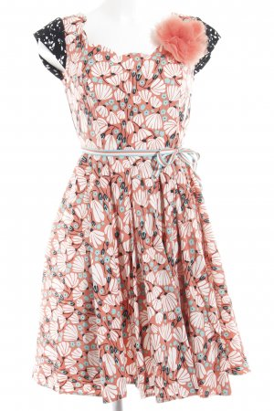 Blutsschwester Minikleid florales Muster Retro-Look