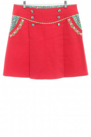 Blutsschwester Mini rok rood bloemenprint country stijl