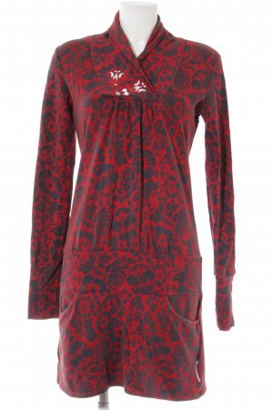 Blutsschwester Sweater Dress dark red-black floral pattern casual look