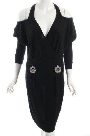 Blutsschwester Strickkleid schwarz Motivdruck extravaganter Stil