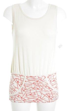 Blutsschwester T-Shirt creme-rot extravaganter Stil