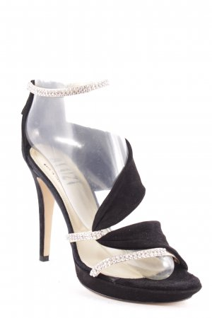 Bluzi High Heel Sandaletten schwarz-silberfarben Party-Look