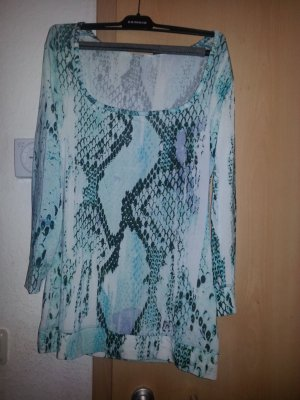 "BNWT Just Cavalli ""Blue Snake"" Blouse Size L"