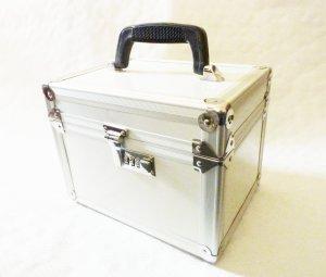 Cosmeticabox zilver-lichtgrijs