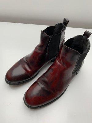 Shoe the Bear Chelsea Boot rouge-noir cuir
