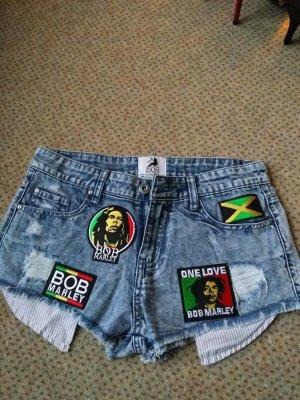 Bob Marley Jeansshorts von ZION Rootswear Original Gr. 36