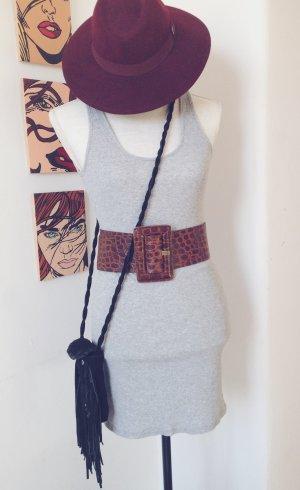 Bobbi Kleid grau, Gr.S Rippkleid Sweaterkleid Festival Coachella