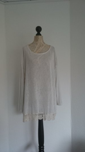 Long Sweater natural white mixture fibre