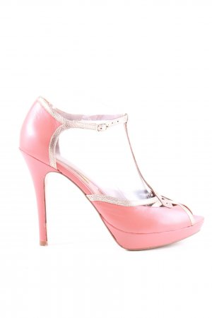 Bocage Riemchenpumps pink-goldfarben Casual-Look