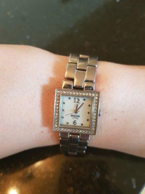 Boccia Montre avec bracelet métallique argenté