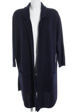 Bode Giacca in maglia blu scuro stile classico