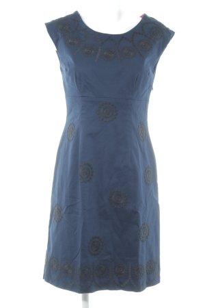 Boden A-Linien Kleid dunkelblau-schwarz abstraktes Muster Elegant