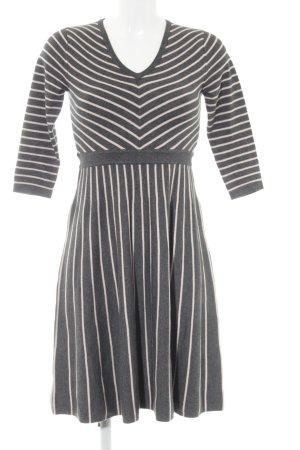Boden A-Linien Kleid grau-rosé Streifenmuster Casual-Look