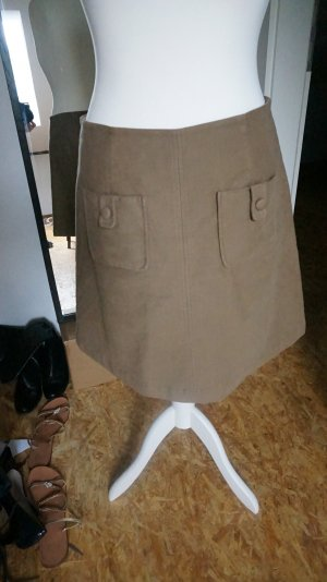 Boden Wool Skirt beige cotton