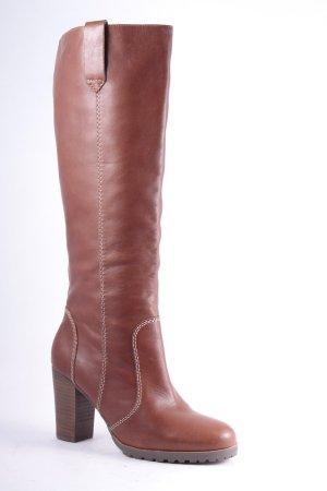 Boden Absatz Stiefel cognac Eleganz-Look