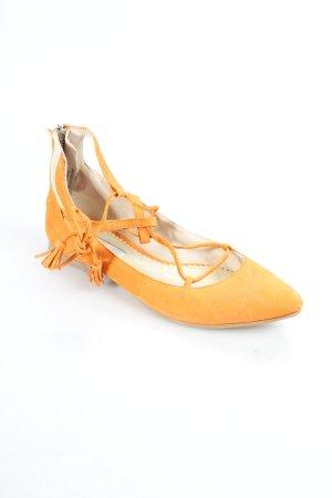 Boden Ballerinas mit Spitze orange Business-Look