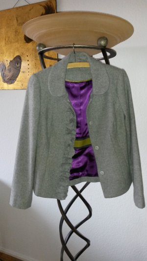 Boden Wool Blazer light grey-purple wool