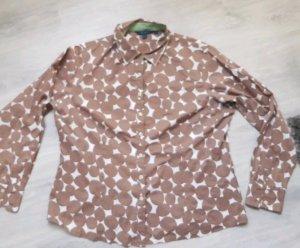 BODEN Bluse neuwertig braun weiß XL