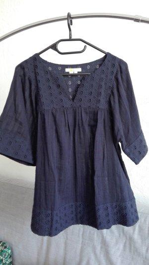 Boden Blusa de túnica azul oscuro-azul Algodón