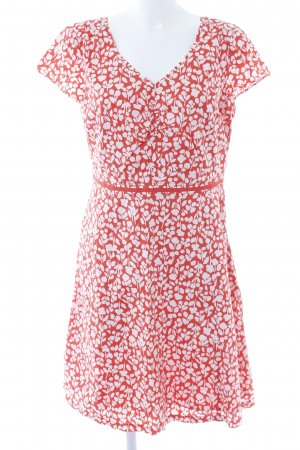 Boden Blouse Dress red-white floral pattern casual look