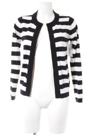 Boden Cardigan schwarz-weiß Streifenmuster Casual-Look