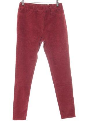 Boden Pantalon en velours côtelé rouge brique style décontracté