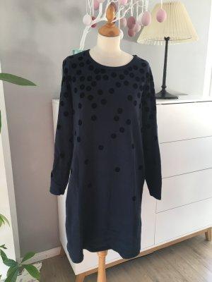 Boden- dunkelblaues Jerseykleid