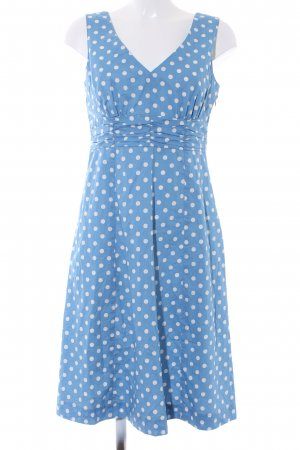 Boden Robe empire bleuet-blanc motif de tache style décontracté