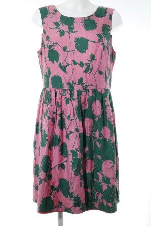 Boden Etuikleid rosa-waldgrün abstraktes Muster Casual-Look