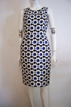 Boden feminines Kleid Jacqurd Etuikleid geblümt 36, 34 Retro