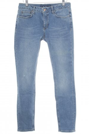 Boden Five-Pocket-Hose stahlblau Destroy-Optik