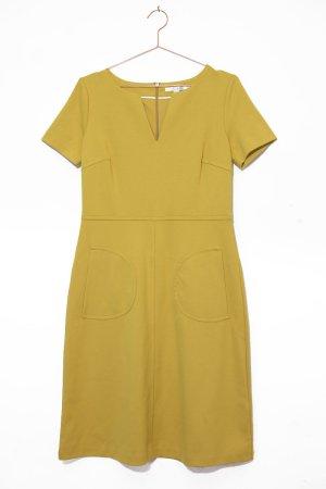 Boden / gelbes Jersey Dress mit V Ausschnitt