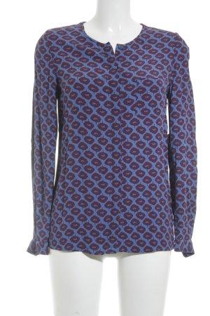 Boden Glanzbluse karminrot-kornblumenblau florales Muster Casual-Look