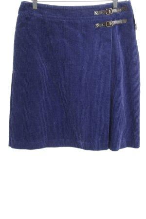 Boden Glockenrock blau-dunkelbraun Casual-Look