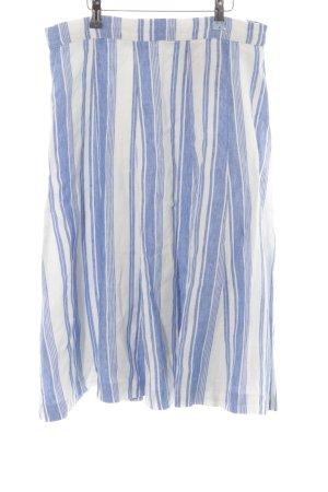 Boden Jupe évasée blanc-bleu motif rayé Look de plage