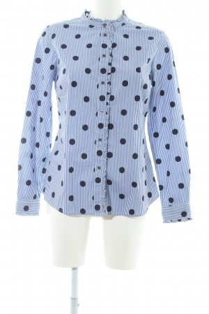 Boden Shirt Blouse white-dark blue spot pattern business style