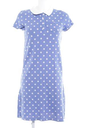 Boden Hemdblusenkleid blau Punktemuster Casual-Look