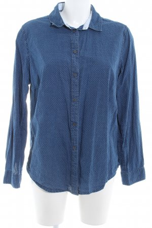 Boden Denim Shirt slate-gray-white spot pattern casual look