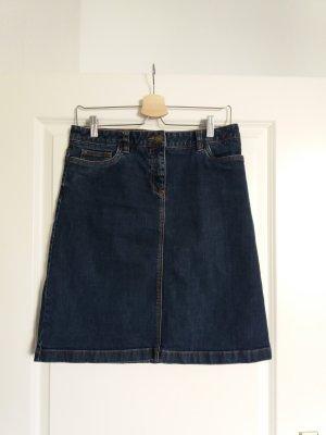 Boden Jupe en jeans bleu-bleu foncé coton