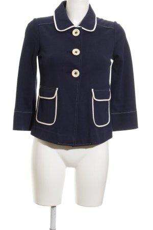 Boden Jersey blazer donkerblauw-wit simpele stijl