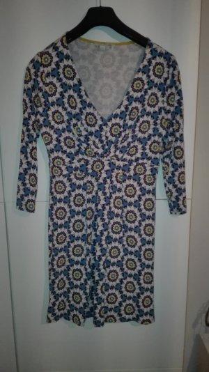 Boden Jerseykleid Blumenmuster blau