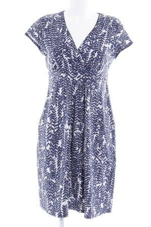 Boden Vestido de tela de jersey azul oscuro-blanco estampado floral look casual