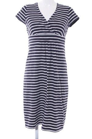 Boden Jerseykleid dunkelblau-weiß Streifenmuster Casual-Look