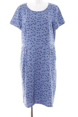 Boden Jerseykleid kornblumenblau Animalmuster Casual-Look