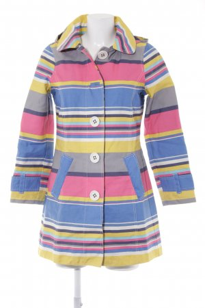 Boden Hooded Coat striped pattern extravagant style