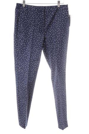Boden Pantalón de pinza alto azul oscuro-blanco estampado a lunares